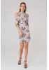 Print y27 knitted sleeveless mini dress