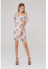 Print y27 chiffon short sleeve mini dress