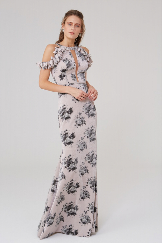 Print y27 knitted sleeveless maxi dress