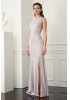 Powder velvet 13 sleeveless maxi dress