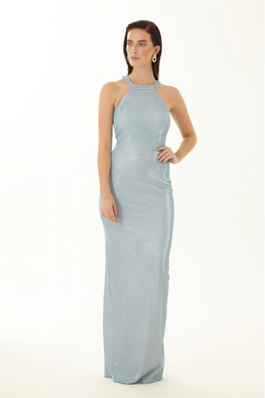 Blue velvet 13 sleeveless maxi dress
