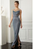 Sax velvet 13 sleeveless maxi dress