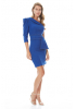 Sax crepe single sleeve mini dress