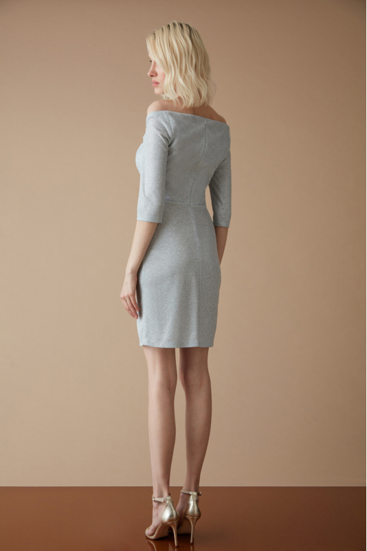 White velvet 13 long sleeve mini dress