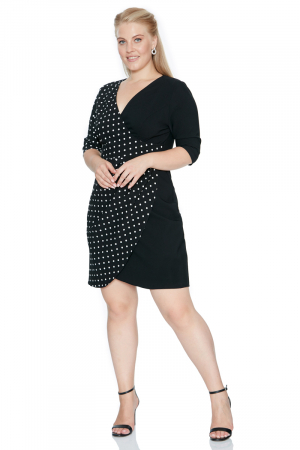 Print f77 plus size dress