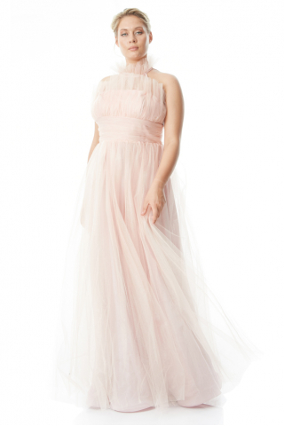 Powder plus size tulle sleeveless maxi dress