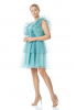 Mint green plus size tulle sleeveless mini dress