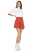 Tile knitted mini skirt