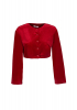Red velvet long sleeve blouse