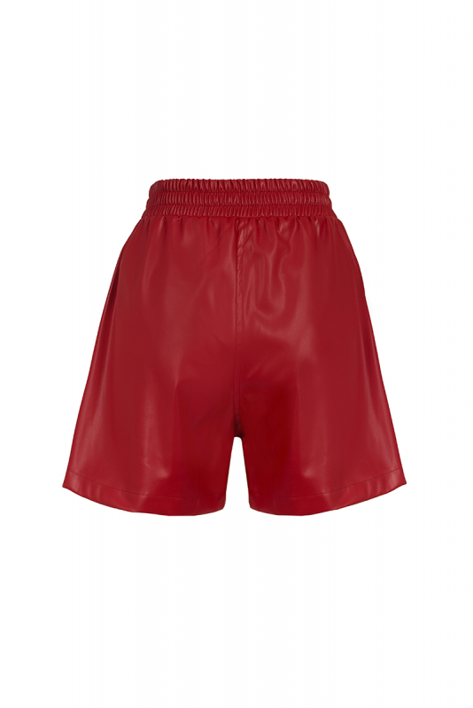 Red leather mini