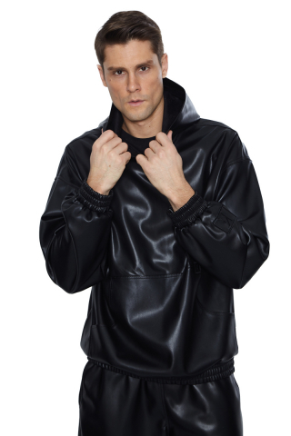Black leather long sleeve