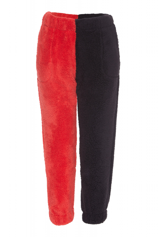 Red long trousers