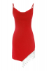 Red crepe sleeveless mini dress
