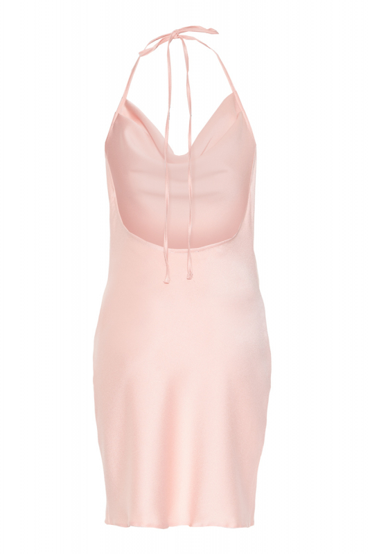 Light pink crepe sleeveless mini dress