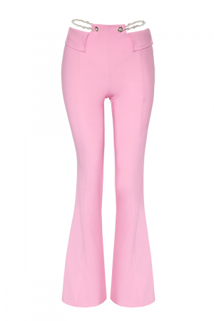 Pink crepe trousers