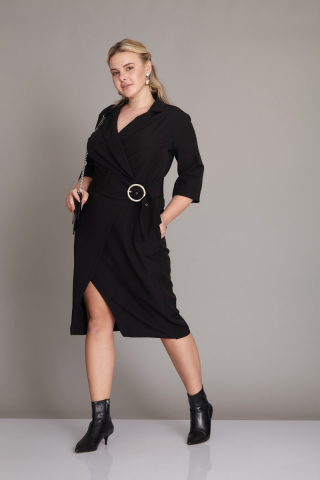 Black plus size dress