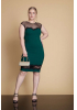 Green plus size plain dress